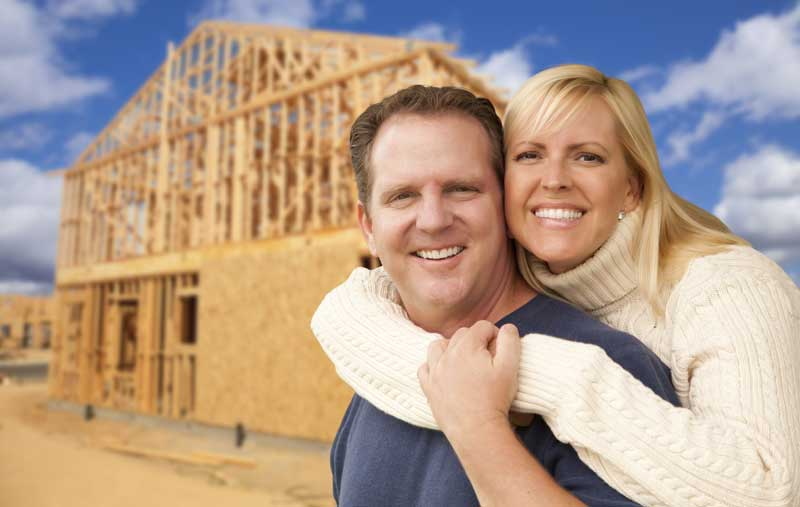 happy home building couple