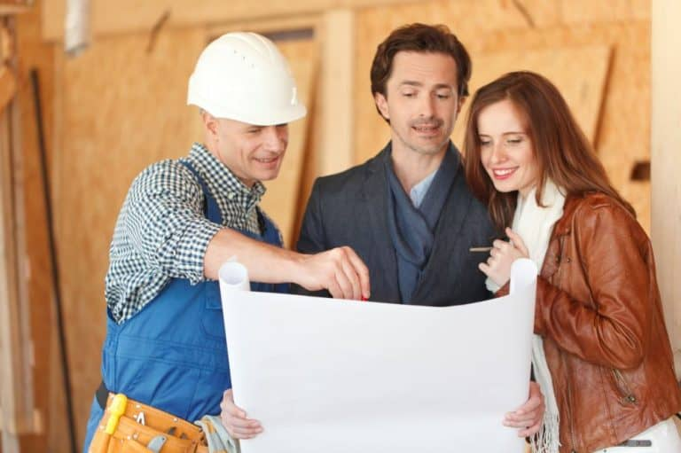 Couple with builder