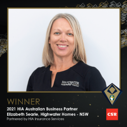 winner business partners Elizabeth Searle HIA awards